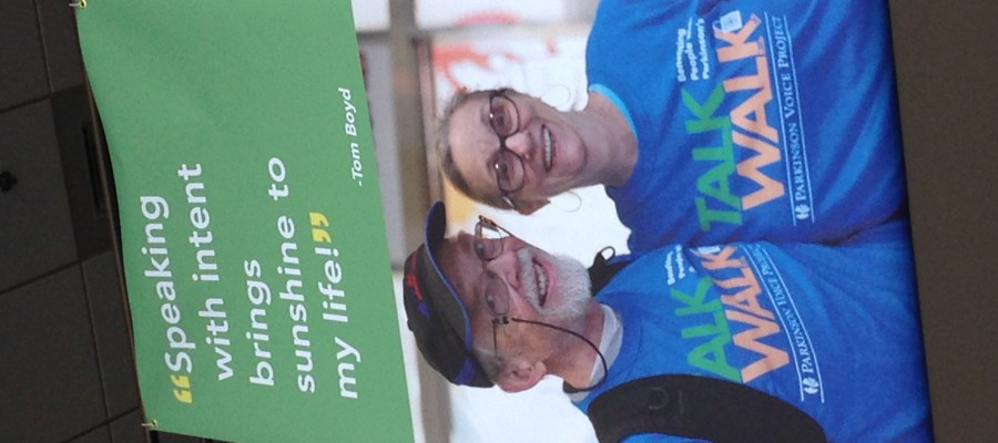 Picture of Parkinson Voice Project banner with couple