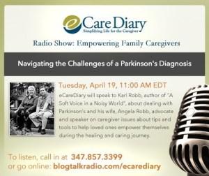 eCareDiary.com webcast April 19th 11am EDT