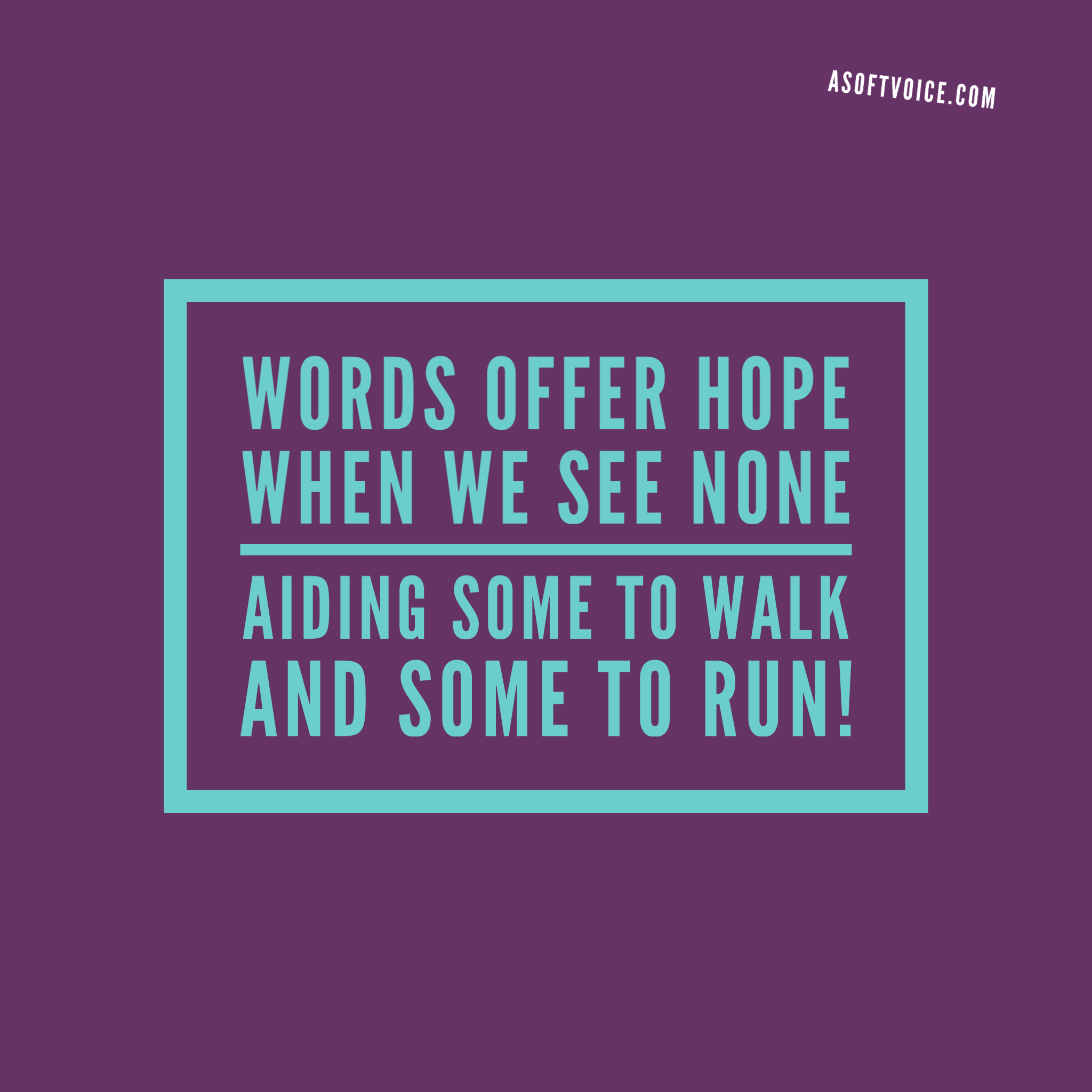 Words offer hope quote