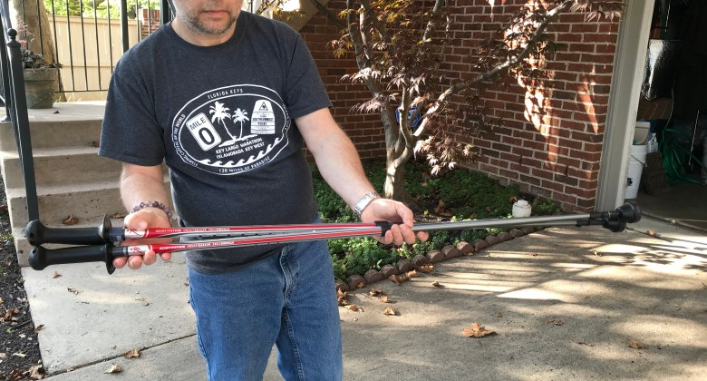 Karl Robb with Urban Poling's Activator Poles