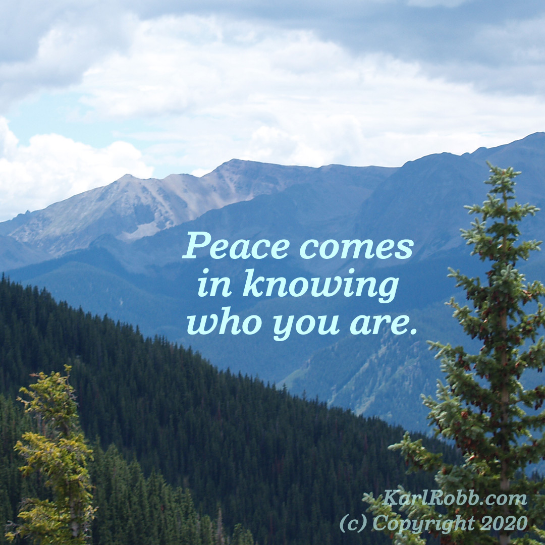 Peacecomesinknowingwhoyouare graphic