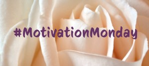 Cream colored rose with #MotivationMonday