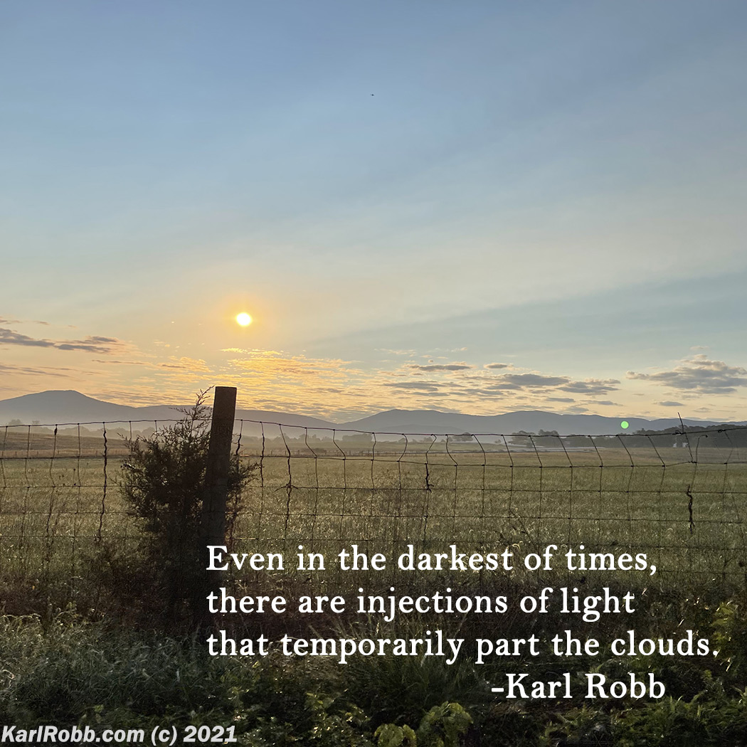 Picture of sunrise over field by Karl Robb
